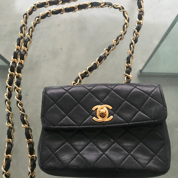 1014b2f07229 CHANEL Bags | 80s Vintage Quilted Micro Mini Flap Bag | Poshmark